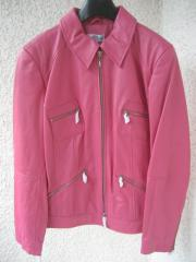 Gr 40 Edelporc-Nappa-Lederjacke rosa neu