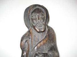 Sonstige Antiquitäten - große Jesusfigur aus Holz Holzfigur