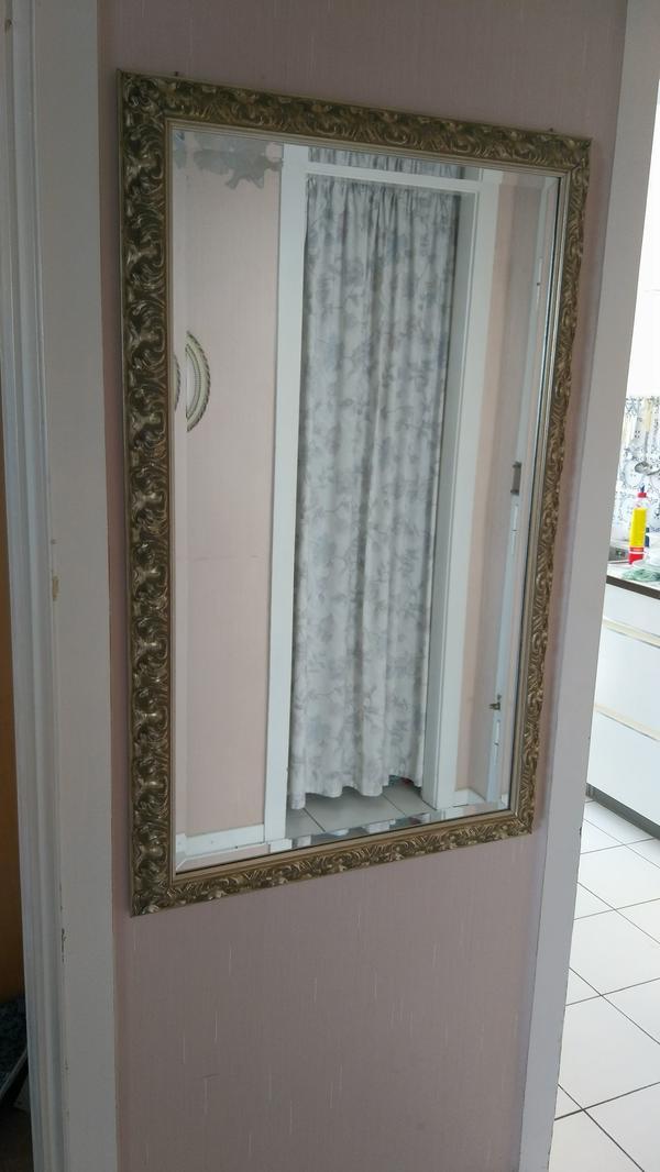 Großer antiker Spiegel mit Rahmen kein billig Glas in Hamburg ...