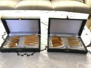 Hartvergoldetes Dessert und Kaffee Besteck