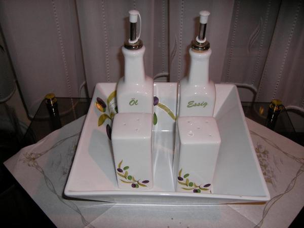 Haushalt Küche Essig- Öl- Pfeffer-