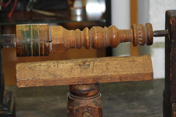 Historische Drechselbank - Museumsstück
