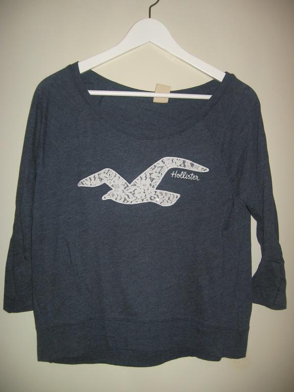Hollister-Shirt, dreiviertelarm, Gr. S - Mannheim Luzenberg - Hollister-Shirt, dreiviertelarm, Gr.S,b für 7.- EUR - Mannheim Luzenberg