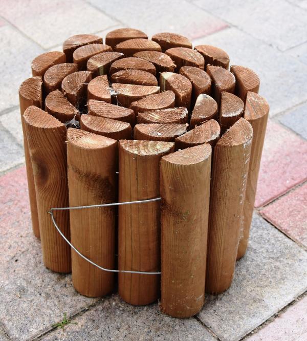 Beetumrandung Holz holz beeteinfassung holzrolli beetumrandung aus holz neu in