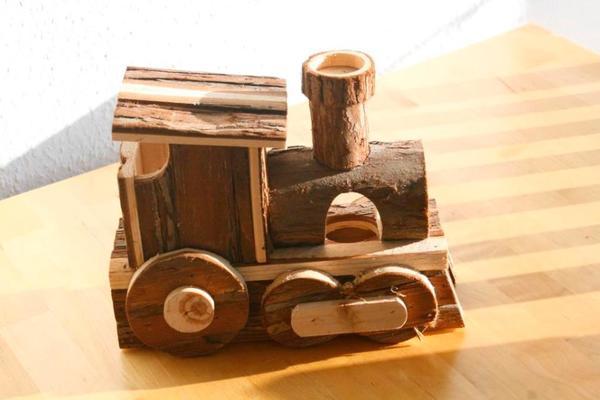 Holz Lokomotive für » Kleintiere