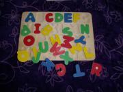 Holzspielzeug Kinder Puzzle Holzpuzzle Buchstaben