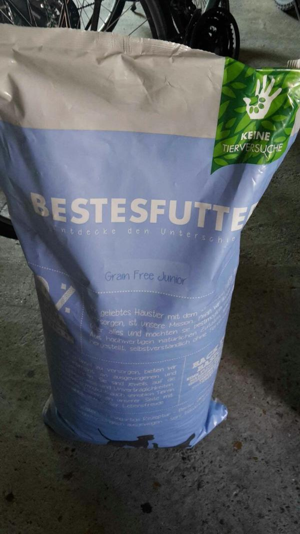 "Hundefutter ""Bestes Futter Grain Free Junior"" 10 kg - Gschwend - Verkaufe 10 kg Hundefutter ""Bestes Futter Grain Free Junior""Abholung - Gschwend"
