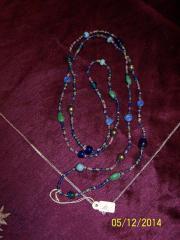 IDEALES GESCHENK Halskette in blau