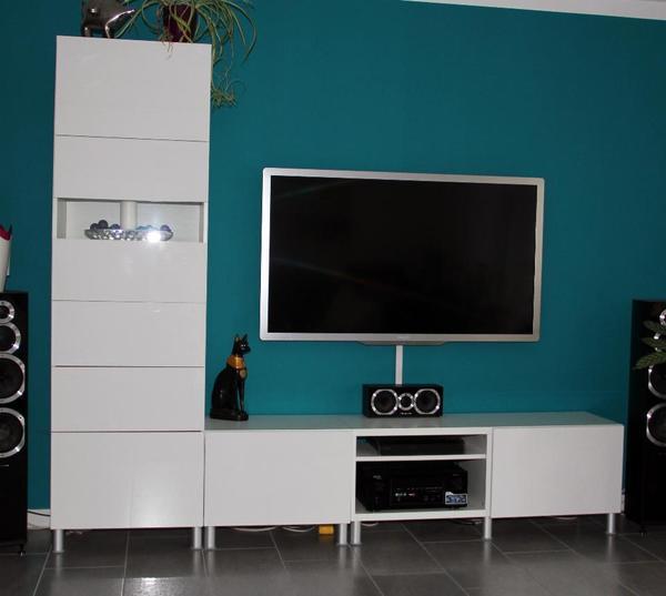 ikea besta hochschrank + sideboard - weiß hochglanz in dortmund, Gestaltungsideen