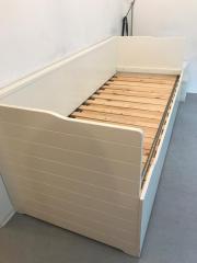 ikea bett hemnes ausziehbar mit bettkasten in frankfurt betten kaufen und verkaufen ber. Black Bedroom Furniture Sets. Home Design Ideas