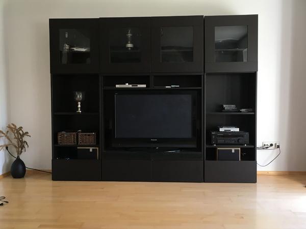 schrankwand schwarz wei gebraucht kaufen nur 3 st bis 70 g nstiger. Black Bedroom Furniture Sets. Home Design Ideas