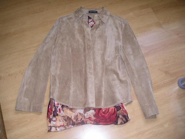 Jacke Damen aus Wildleder