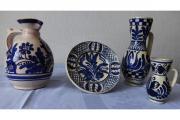 KERAMIK-SET 4-teilig mediterranes blaues DEKOR