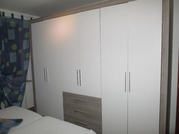 Kleiderschrank,schlafzimmerschrank,silbereiche / Weiß, 290x225x60 ... Schlafzimmerschrank