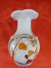 kleine antike Glas- Vase Jugendstil