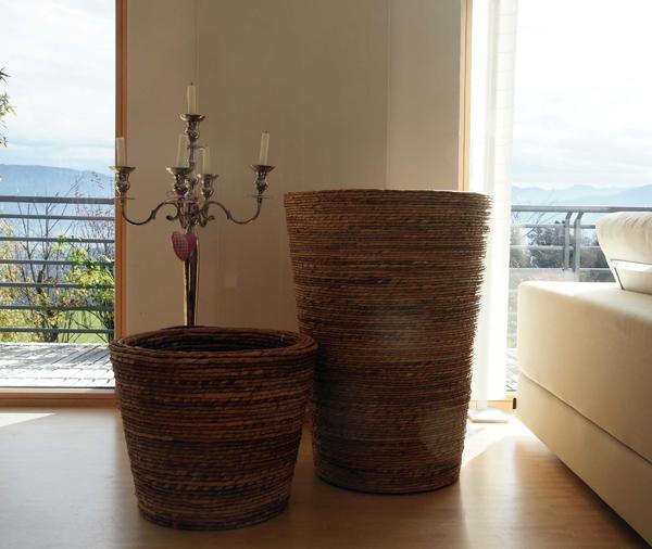 korb beh lter pflanzentopf f r den innen und. Black Bedroom Furniture Sets. Home Design Ideas