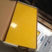 Kunststein Fliesen Platten Gelb marmoriert