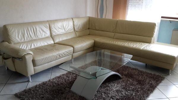 Ledercouch beige  Ledercouch beige in Rastatt - Polster, Sessel, Couch kaufen und ...