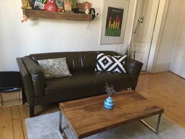 Ledercouch Braun Sofa Couch 2-3 Sitzer Echtleder Butlers Baritone