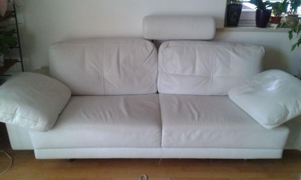 ledercouch wei. Black Bedroom Furniture Sets. Home Design Ideas
