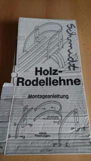 Lehne für Rodelschlitten Holz-Rodellehne