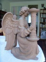 Majolika Engel aus