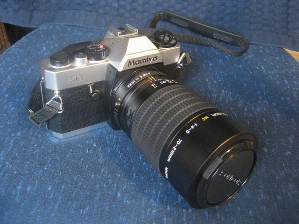 Mamiya ZE Spiegelreflex Kamera mit