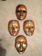 Masken Messing 4 Stück Topzustand