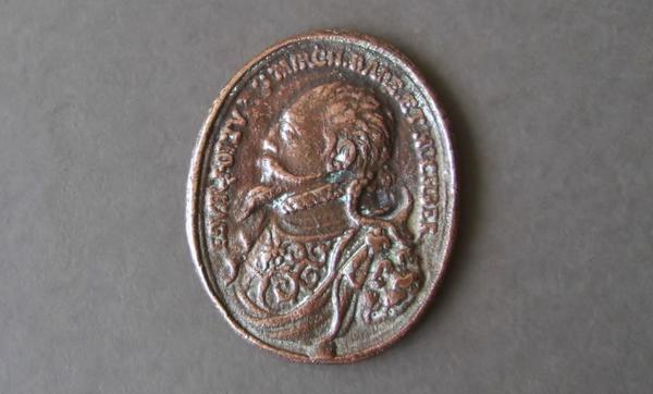Medaille Kupfer oval Got geb