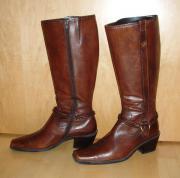 Modische Leder Stiefel Gr 39 -