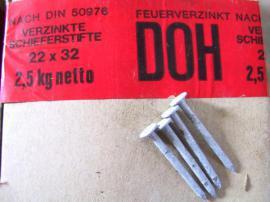 Sonstiges Material für den Hausbau - Nägel Feuerverzinkte Schieferstifte