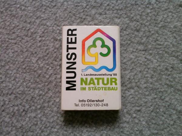 Natur Im Städtebau - 1. Landesausstellung 1988 Munster - Munster - Streichholzschachtel - Natur Im Städtebau - 1. Landesausstellung 1988 - 3042 Munster - TOP ZUSTAND - Munster