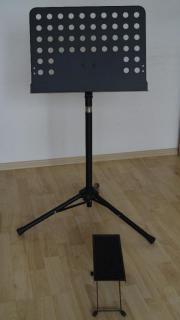 Notenständer/Orchesterpult; Fußbank/