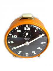 Orangener Wecker von Kienzle Duo