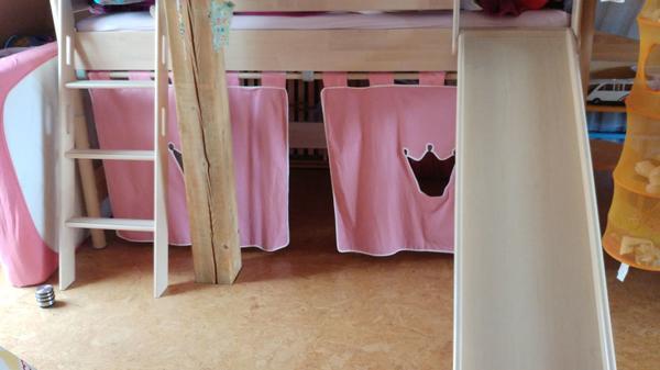 paidi fleximo hochbetterweiterung mit rutsche, leiter u. vorhängen, Hause deko