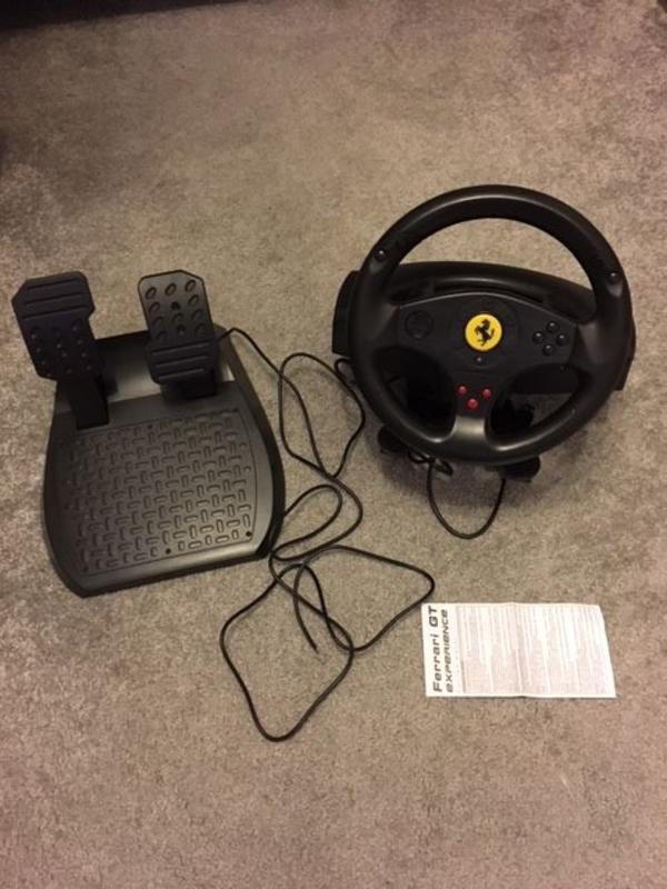 PC / Playstation 3 Lenkrad mit Vibration Thrustmaster Ferrari GT gebraucht kaufen  61449 Steinbach