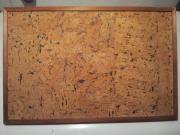 Pinwand Korkbelag mit Holzrahmen