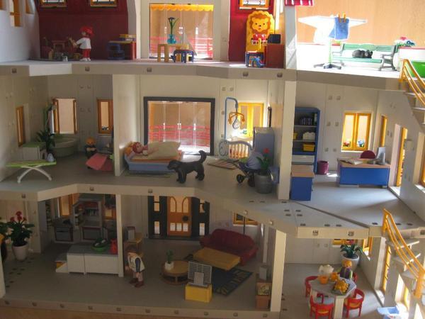 playmobil neues wohnhaus erweiterung gebraucht in. Black Bedroom Furniture Sets. Home Design Ideas