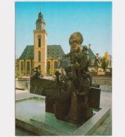 Postkarte Struwwelpeter-Brunnen Frankfurt Main