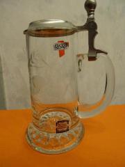 RASTAL Bierkrug Bierglas mit Zinndeckel