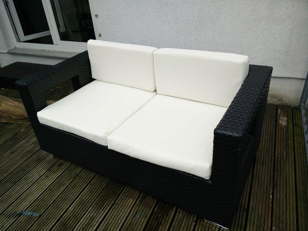 Lounge sofa rattan for Couch auflage