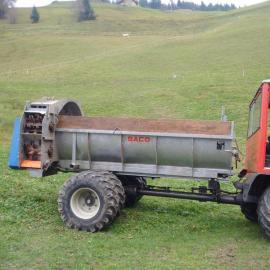 Traktoren, Landwirtschaftliche Fahrzeuge - RESERVIERT Saco Seiten - Miststreuer für