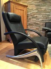 Relaxsessel rolf benz  Rolf Benz Sessel Funktionssessel - Modell 3100 in schwarzem Leder ...