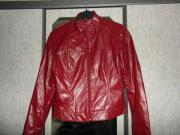 rote Jacke Kunstleder Gr M