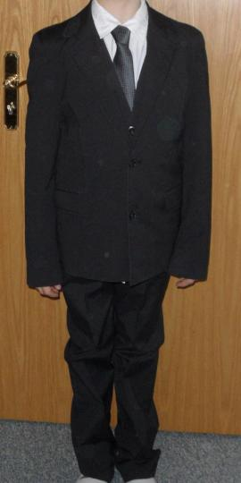 Jugendbekleidung - S Oliver-Anzug Gr 164 schwarz