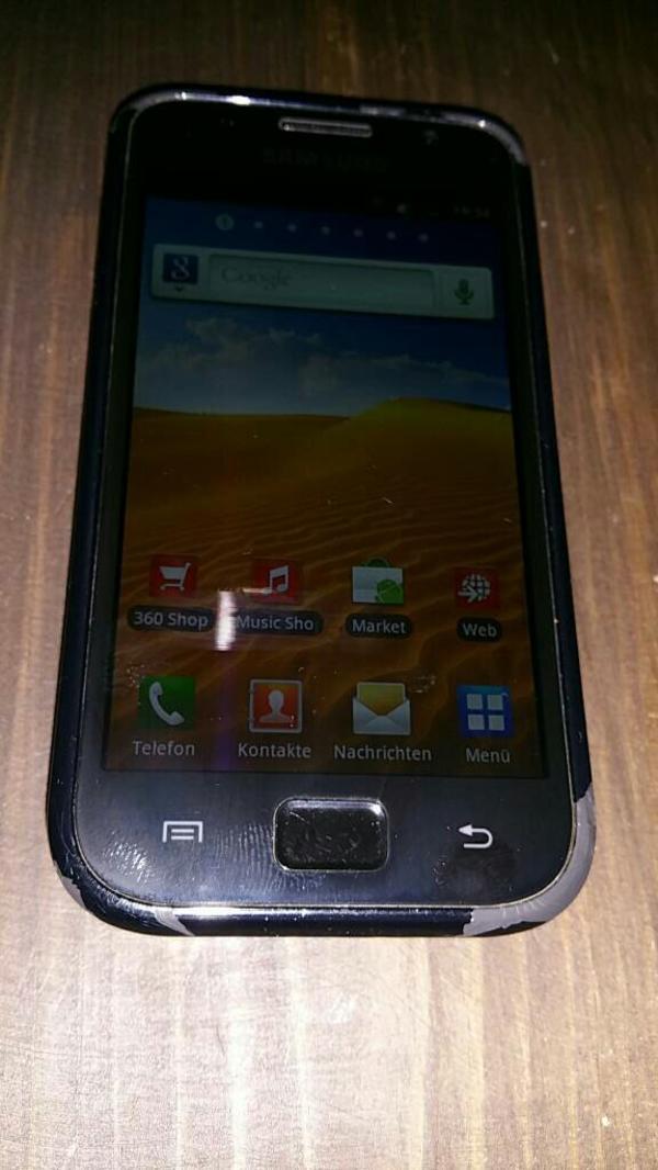 Samsungs Galaxy S GT-I9000 - Bruchsal - Samsung Galaxy S I9000 Smartphone (10,2 cm (4 Zoll) Super Amoled-Touchscreen, HD Video, 1 GHz-Prozessor, 8 GB interner Speicher, Android 2.2) .Accu Deckel hat kleine riß. Funktioniert 1A. Nur für Vodafone - Bruchsal