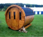 Sauna Saunafass Gartensauna