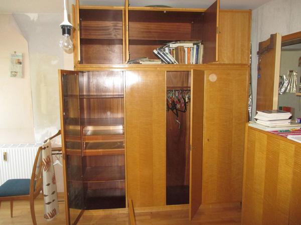 Schlafzimmer komplett, Massivholz (Kirschbaum) mit Rüster-Furnier ...