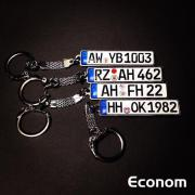 Schlüsselanhänger Auto Kennzeichen
