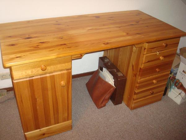 Schreibtisch Kiefer massiv lackiert Schule oder Büro in Oftersheim ...